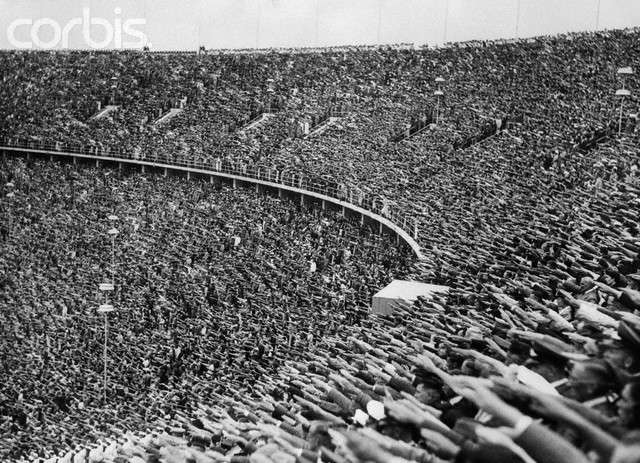 View of Olympic Stadium and Spectators