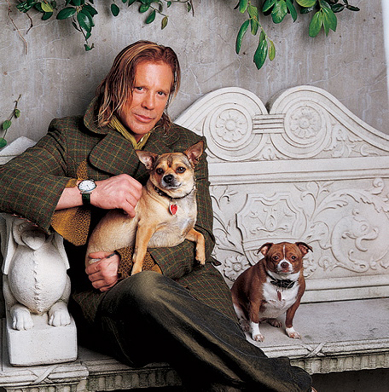 Mickey+Rourke+dogs