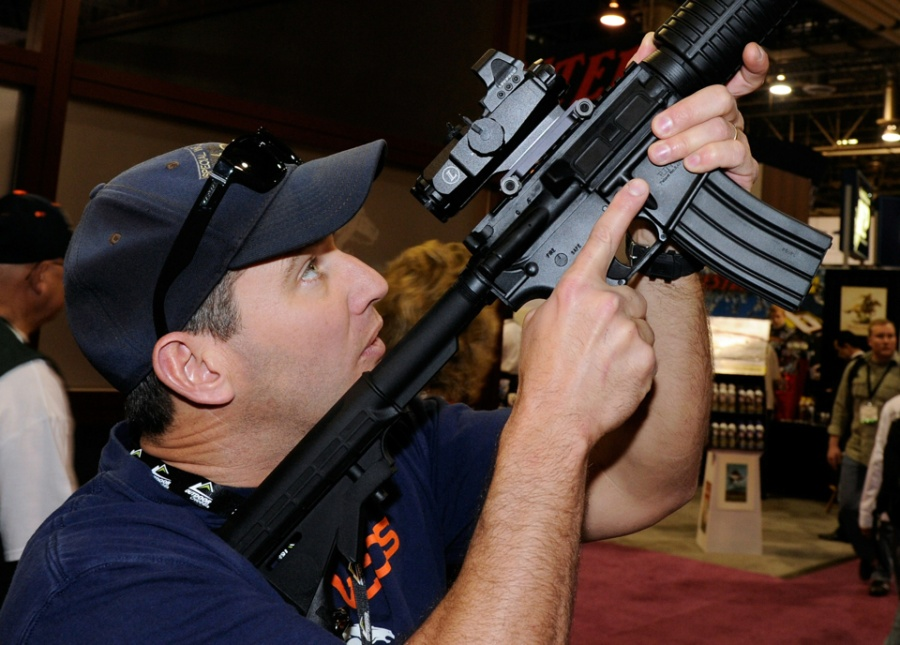 Gun Show Held In Las Vegas