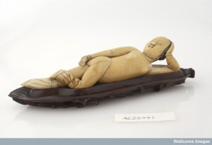 L0035559 Chinese ivory diagnostic doll