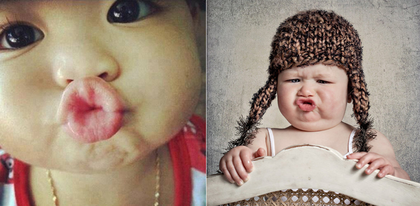Funny Duck -Lipped Photos of Babies f