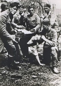 Jasenovac prisoner being beheaded with a saw