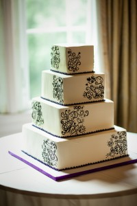 RJ8-White-and-purple-square-Indian-wedding-cake-with-henna-pattern