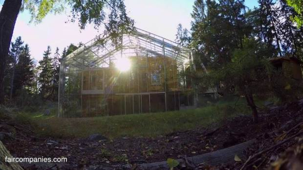 This family built a massive greenhouse around their actual house so they could be warmer in winter  Source: Kirsten Dirksen