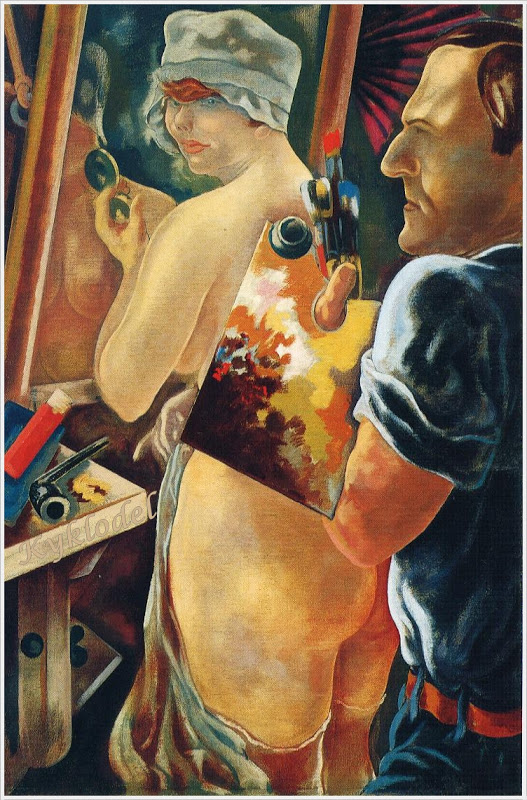 Grosz, George (1893-1959) - 1928 Artist and Model