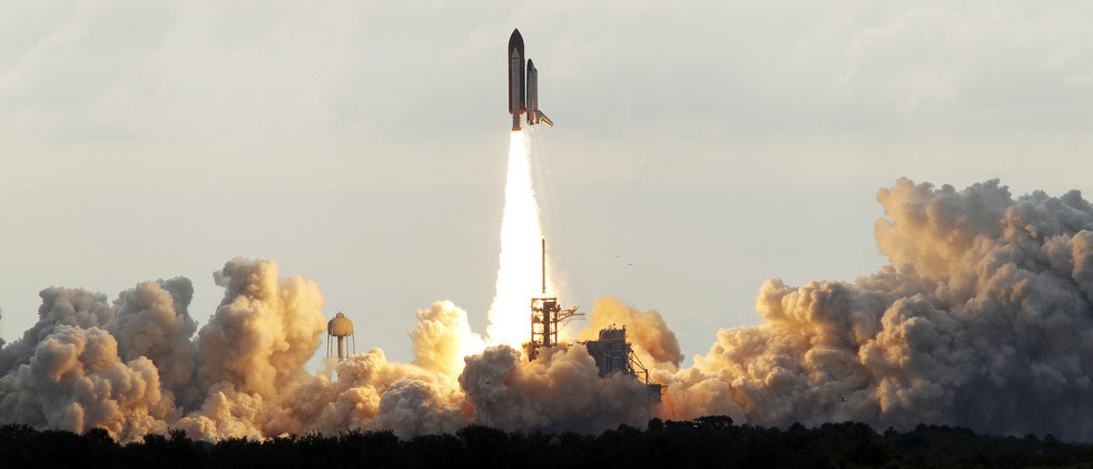 The space shuttle Endeavour lifts off from Kennedy Space Center in Cape Canaveral, Fla., Monday, May 16, 2011.  The space shuttle Endeavour began a 14-day mission to the international space station. (AP Photo/Terry Renna)
