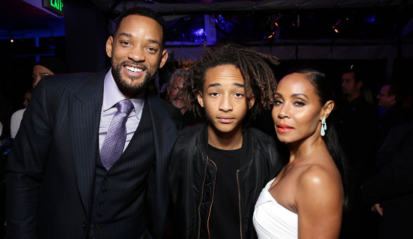 "Will Smith, Jaden Smith and Jada Pinkett Smith seen at the Los Angeles Premiere of Warner Bros. Pictures' ""Focus"" on Tuesday, Feb 24, 2015 in Hollywood. (Photo by Eric Charbonneau/Invision for Warner Bros./AP Images)"